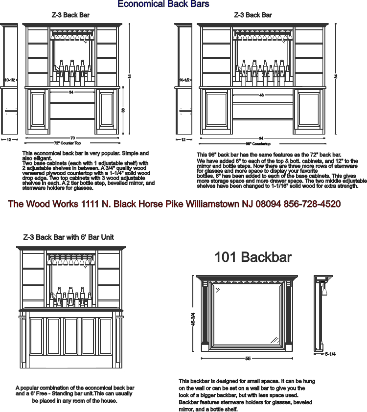 Back Bar Designs on millwork design drawings